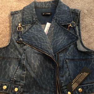 Brand New BeBe crop Jean vest
